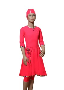Front-BalletCoral- Modest-swimdress (Small)
